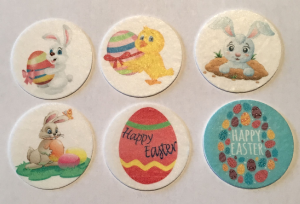 Edible cake toppers - Easter selection